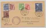 D., Kontrollrat, 1948, Mi.- Nr.: 962 u.a. in MiF auf FDC, als Auslandsbrief von Berlin nach West Haven (USA)