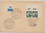 FRZ, 1949, Mi.- Nr.: 53 (2x, 1x vom Er, 1x vom Or), als MeF auf Fernbrief von Messkirch nach Eberfingen