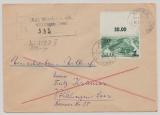 Saarland, 1947, Mi.- Nr.: 238 Z II, als EF auf Einschreiben- Fernbrief von Werbeln nach Völklingen. Interessanter R.- Stempel!!!