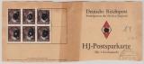 DR, 1945, Mi.- Nr.: 826 (30x, vs. + rs.) auf gr. Teil einer HJ- Spahrkarte der Dt. Reichspost, von Warnsdorf. Sehr selten!!!