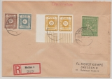 Meißen, 31.12.1945, Mi.- Nr.: 35 B, (ER, FDC!), u.a. SBZ, in MiF auf Einschreiben- Fernbrief von Meißen nach Dresden