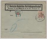 DR, 1911, Mi.- Nr.: 84 als EF (+ Schweizer Nachportomarke) auf Auslands- Drucksache von Berlin nach Basel