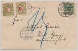 DR, 1900, Mi.- Nr.: 46 als EF (+ 2 Schweizer Nachportomarke) auf Auslands- Bildpostkarte von Inowrazlaw nach Basel (CH)