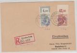 14, Dresden 42, A179 POR ndgz, u.a. auf E.- Fernpostkarte von Dresden nach Radebeul, Sign. / gepr. Rank