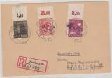 14  Dresden 20, 176 II PORndgz u.a. auf E.- Fernpostkarte von Dresden nach Radebeul, Sign. / gepr. Rank