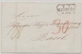 T. + T., 1845, T.T. Hamburg- Stempel auf Auslandsbrief von Hamburg nach Basel, Spähtdatum, im Feuser unbekannt!