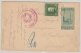 Bosnien + Herzegovina, 1916, 5 H. GS- Karte + 5 H. Militärpost Zusatzfr. als Auslandspostkarte von Jlijas nach St. Gallen (CH)