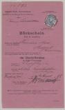 DR, 1888, Mi.- Nr.: 42 als EF auf Rückschein für ein Auslands- Einschreiben von Schopfheim nach Medford (USA) und zurück