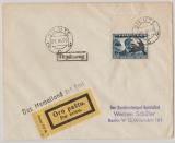 Memel, 1939, Mi.- Nr.: IV I (vom Or) als EF auf Luftpost- Fernbrief von Heydekrug nach Berlin, mit Propagandastempel