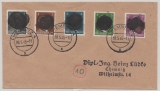 SBZ, 1945, Sächsische Schwärzungen, OPD Chemnitz, Mi.- Nr.: AP 784 I u.a. als MiF auf Ortsbrief innerhalb von Chemnitz