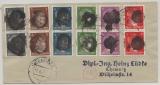 SBZ, 1945, Sächsische Schwärzungen, OPD Chemnitz, Mi.- Nr.: AP 785 a I (2x) u.a. als MiF auf Ortsbrief innerhalb von Chemnitz