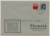 SBZ, 1945, Sächsische Schwärzungen, OPD Chemnitz, Mi.- Nr.: AP 785 b I als MiF auf Ortsbrief innerhalb von Chemnitz