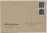 SBZ, 1945, Sächsische Schwärzungen, OPD Chemnitz, Mi.- Nr.: AP 783 I (2x) als MeF auf Ortsbrief innerhalb von Chemnitz