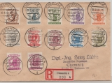 SBZ, West- Sachsen, 1946, Mi.- Nrn.: 138- 49, Einschreiben- Satzbrief innerhalb von Chemnitz