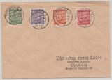 SBZ, West- Sachsen, 1946, Mi.- Nr.: 116- 119 als Satzbrief- MiF auf Ortsbrief innerhalb von Chemnitz