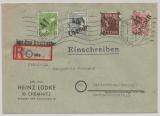 41 Chemnitz, 169, 170, 71 + A 179 X als MiF auf E.- Fernbrief (Aus dem Briefkasten!) von Chemnitz nach Marienberg