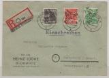 41 Chemnitz, 166, 68 + 181 X als MiF auf E.- Fernbrief (Aus dem Briefkasten!) von Chemnitz nach Marienberg