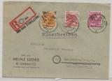 41 Chemnitz, 175, 176, + 177 X als MiF auf E.- Fernbrief (Aus dem Briefkasten!) von Chemnitz nach Marienberg