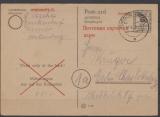 MVP, 1945, 6 RPfg.- GS (Mi.- Nr.: 897) gelaufen von Dassow nach Berlin