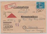 DDR, 1950, Mi.- Nr.: 247 (2x, 1x mit DV) + 242 (2x) als MiF vs. + rs. auf NN- Einschreiben von Berlin nach Chemnitz