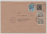 Berlin, 14.4.1949, Mi.- Nrn.: 21, 26 + 42 (2x) als MiF auf Fernbrief von Berlin nach Heilbronn