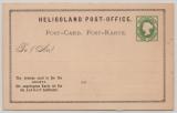 Helgoland, 1876, 3 F- 5 Pfg.- Antwort- GS- Karte, Mi.- Nr.: P2, ungebraucht