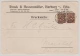 DR, Infla, 1923, Mi.- Nr.: 208 (2x), in MeF auf Auslands- Drucksache von Harburg nach Monstal (?/DK)