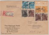 20 Halberstadt, 166IV, 171IV (3), 173IV (2) + 175IV (2x OR), Portogerecht auf Orts- E. -Rs.-Brief, geprüft Ballschmidt BPP
