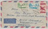 Libanon, 1955, 40 p. - MiF auf Auslands- Luftpostbrief von Beyrouth nach Berlin