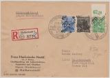 20 Halberstadt, 166IV, 178IV + 181IV (vom OR!) zusammen auf E.- Rückschein- Ortsbrief geprüft Ballschmidt BPP
