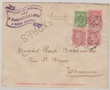 Belgien, 1904, 10 C.- GS- Umschlag + 25 C. als Zusatzfrankatur verwendet als Expres- Fernbrief von Gallenelle nach Tournai