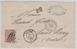 Belgien, 1869, 30 C. EF auf Auslandsbrief von Liege (?) nach Saint Peray (Fr.)
