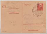 DDR, 1950, 20 Pfg. GS, (Mi.- Nr.: P 42/ 02) gelaufen von Aschersleben nach Hranice na Mor (CSSR?) Tschechoslovakei