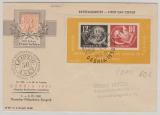 DDR, 1950, Bl. 7 auf FDC, mit 2 Debria- Stempeln