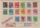 182- 97 (ohne 195), als MiF auf Satz- E.- Brief im Fernverkehr von Kleinwanzleben nach Magdeburg