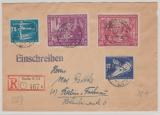 DDR, 1950, Mi.- Nr.: 246- 47 + 248- 49 als MiF auf Einschreiben- Ortsbrief innerhalb von Berlin, gepr. Zierer BPP