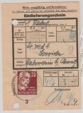 219 als EF auf Einlieferungsschein für ein Paket