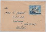 DDR, 1949, Mi.- Nr.: 242 als EF auf Auslandsbrief von Berlin nach New Jersey (USA)