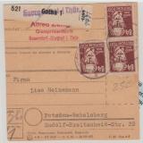 218 (3), 225, 227(3x) als MiF auf Paketkarte, selten!