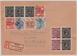 Berlin, Vorläufer, 1948, interessante MiF Bizone / Kontrollrat + SBZ! Auf Ortseinschreiben + Rückschein! Innerhalb Berlin´s