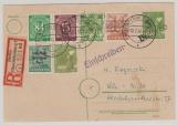 Berlin, Vorläufer, 1948, SBZ- GS P22 + Zusatzfr. Kontrollrat / Bizone! Als Ortseinschreiben- Karte innerhalb Berlin´s
