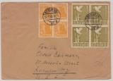 Berlin, Vorläufer, 1948, interessante MiF aus Zenfachfrankatur Kontrollrat! Auf Auslandseinschreiben in die USA