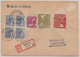 Berlin, Vorläufer, 1948, interessante MiF aus Zehnfachfrankatur Kontrollrat! Auf Ortseinschreiben, innerhalb Berlin´s