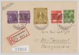 Berlin, Vorläufer, 1948, Kontrollrat HBL Mi.: 123  + MiF aus Bizone, SBZ, vs. + rs.! Auf Ortseinschreiben innerhalb Berlin´s
