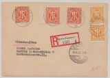 Berlin, Vorläufer, 1945, 6 (2x) + 8 Pfg. (3x) - AM- Post in Berlin verwendet! Als MiF auf Ortspostkarte innerhalb Berlin´s