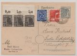 Berlin, Vorläufer, 1948, Kontrollrat- Zehnfachfrankatur (mit 3x 943b POR) in Berlin verwendet! Als MiF auf Ortspostkarte