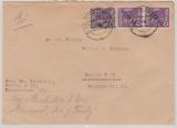 Berlin, 1948, Mi.- Nr.: 2 (2x) in MiF mit Bizone, als MiF auf Ortsbrief innerhalb von Berlin, seltene MiF!