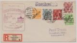 Berlin, 1948, Mi.- Nr.: 10 + Bizone- Marken als MiF (!!!) auf Einschreiben- Luftpost- Fernbrief von Berlin nach FF/M