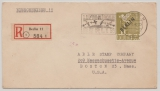 Berlin, 1948, Mi.- Nr.: 17 als EF (!!!) auf Luftpost- Auslands- Einschreiben von Berlin nach Boston (USA)