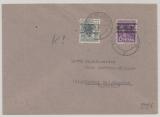 Bizone, 1948. Mi.- Nr.: 37 IK + 40 IK als MiF auf Ortsbrief Innerhalb von Beckum